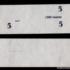 Billetes con errores: 8 BONITA PRUEBA DE COLOR DEL VALOR DEL BILLETE DE LA GENERALITAT DE CATALUNYA DE 5 PTES. Lote 69125853