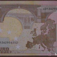 Billetes con errores: BILLETE DE 50 EUROS SIN CIRCULAR CON ERROR DE FABRICACION.LE FALTA EL HOLOGRAMA, ESTADO PLANCHA. Lote 71671503
