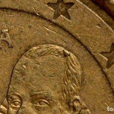 Billetes con errores: MONEDA DE 20 CÉNTIMOS DE EURO,1999, CON PROTUBERANCIA EN CABEZA DE CERVANTES (REF.117). Lote 82365372