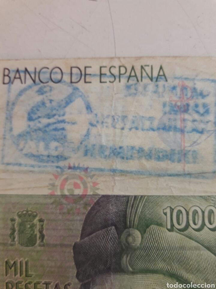 Billetes con errores: Billete 1000 pesetas. Con dos sellos politicos - Foto 4 - 85849879