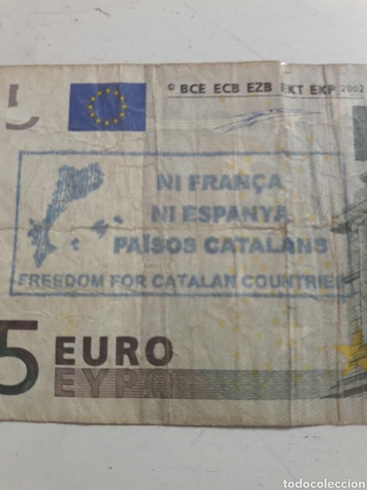 Billetes con errores: Billete 5 euros sello independentista Catalán - Foto 2 - 85850824