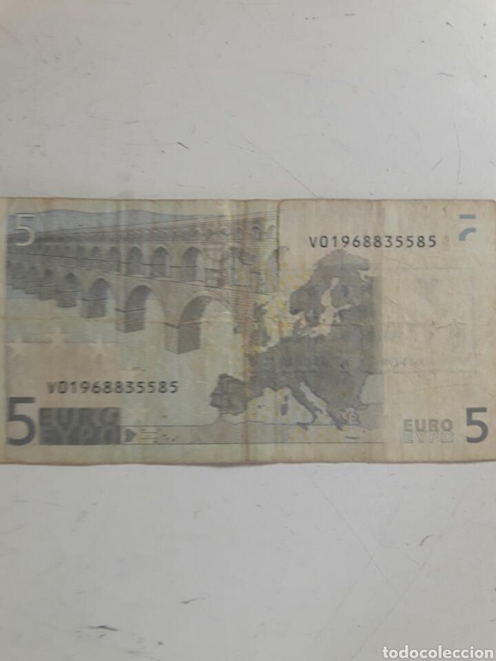 Billetes con errores: Billete 5 euros sello independentista Catalán - Foto 3 - 85850824