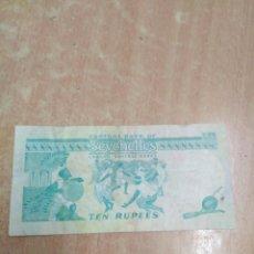 Billetes con errores: 10 RUPIAS SEYCHELLES CON ERROR. Lote 93315089