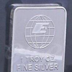 Billetes con errores: LINGOTE 1 TROY OZ FINE SILVER .999+. Lote 95644227