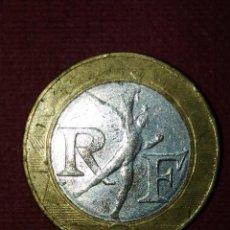 Billetes con errores: 10 FRANCOS 1992 FRANCIA - ERROR DE ACUÑACIÓN.. Lote 96009883
