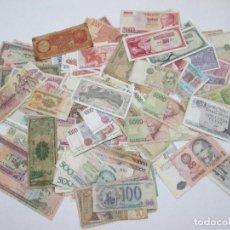 Billetes con errores: A-264 / LOTE 160 BILLETES MUNDIALES - HAY DE MUY RAROS! - CIRCULADOS - DISTINTOS. Lote 96482231