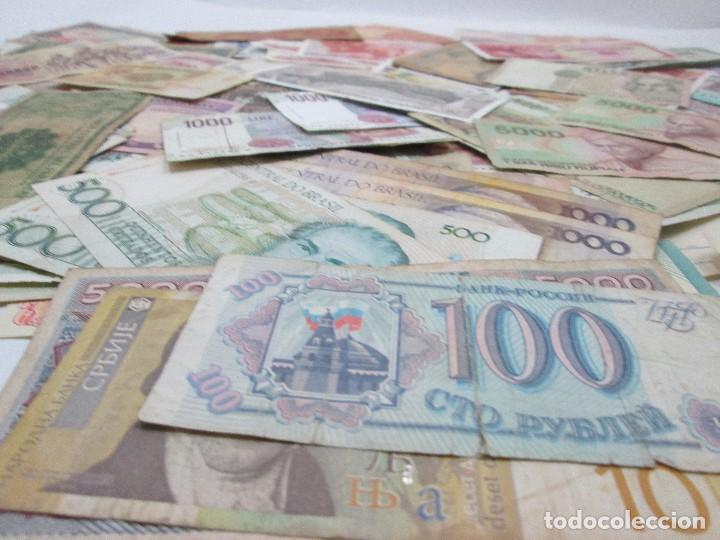 Billetes con errores: A-264 / LOTE 160 BILLETES MUNDIALES - HAY DE MUY RAROS! - CIRCULADOS - DISTINTOS - Foto 4 - 96482231