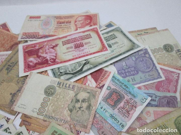 Billetes con errores: A-264 / LOTE 160 BILLETES MUNDIALES - HAY DE MUY RAROS! - CIRCULADOS - DISTINTOS - Foto 6 - 96482231