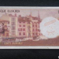 Billetes con errores: BANCO DE EUZKADI. BILLETE DE 100 EUSKALS.. Lote 101305635