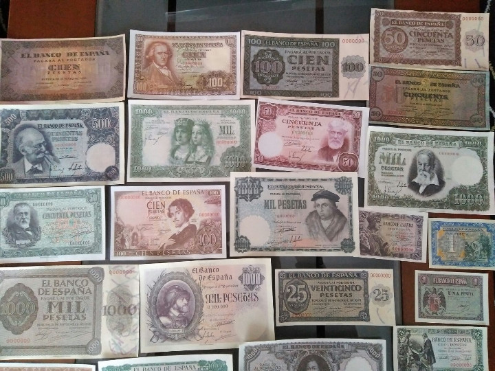 Billetes con errores: gran lote 39 billetes españoles (reproducción) - Foto 3 - 102810063