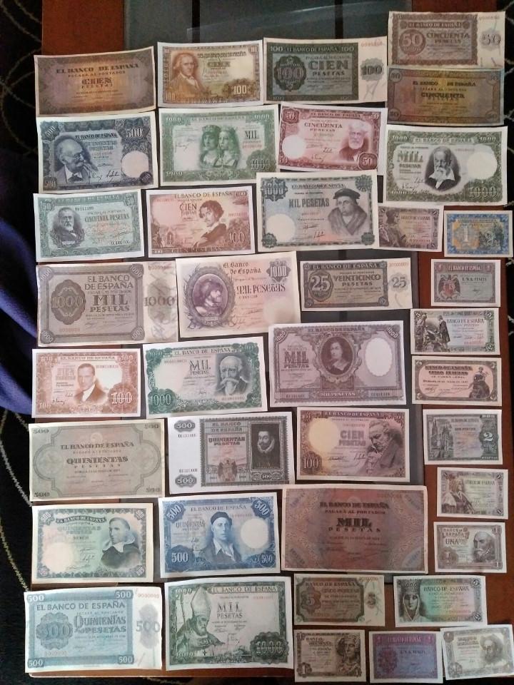 Billetes con errores: gran lote 39 billetes españoles (reproducción) - Foto 4 - 102810063