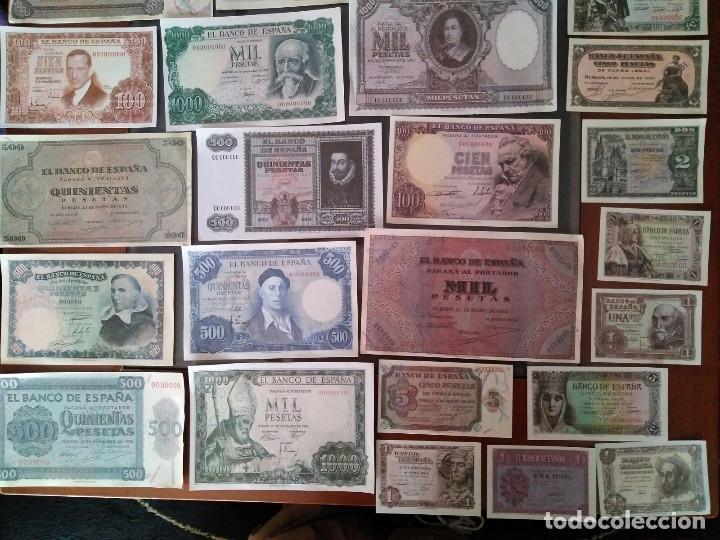 Billetes con errores: gran lote 39 billetes españoles (reproducción) - Foto 2 - 102810063