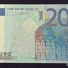 Billetes con errores: BILLETE 20 EUROS LÁMINA DORADA . Lote 103233299
