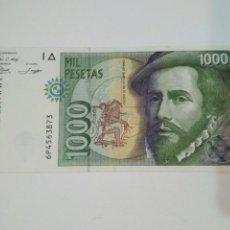 Billetes con errores: 1000 PESETAS AÑO 1992 FRANCISCO PIZARRO SIN CIRCULACIÓN RARA CONSIRVACION-PLANCHA. Lote 103778488