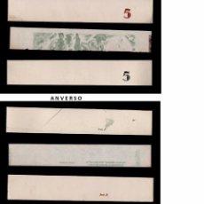 Billetes con errores: L17-6 BILLETES DE LA GENERALITAT DE CATALUNYA 3 BONITOS CABEZALES DE LAMINA DE DIVERSAS PRUEBAS DE C. Lote 104412763