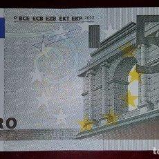 Billetes con errores: ESPAÑA V-BILLETE 5 EUROS 2002-FIRMA TRICHET-CON 2 ERRORES-SIN HOLOGRAMA- SIN CIRCULAR-PLANCHA. Lote 104511159