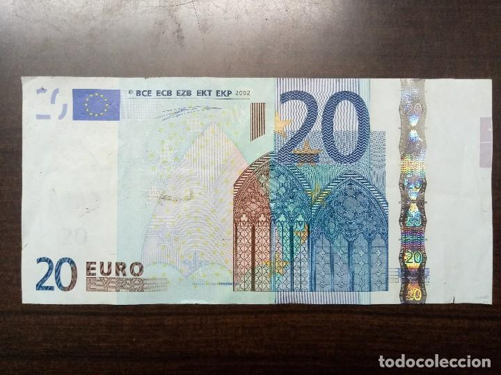 Billetes con errores: Billete 20 euros con defecto de corte - Foto 1 - 108456679