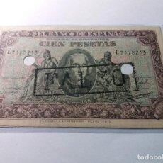 Billetes con errores: BILLETE DE 100 PESETAS FECHA 9 DE ENERO DE 1940 (FALSO DE EPOCA SC). Lote 114384319