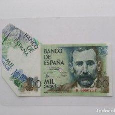 Billetes con errores: 1000 PESETAS DE BENITO PEREZ GALDOS 1979 CON ERROR DE CORTE ESPECTACULAR. Lote 114943415
