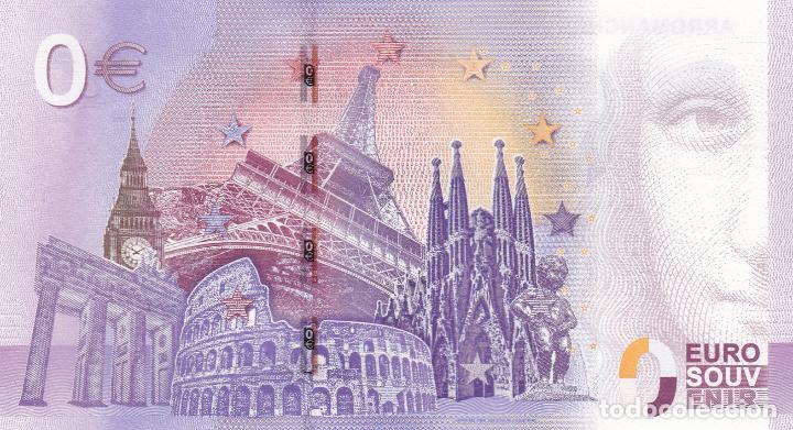 Billetes con errores: BILLETE 0 EUROS SOUVENIR ARROMANCHES 360 DESEMBARCO NORMANDIA JEEP WILLYS GUERRA MUNDIAL PARIS ROMA - Foto 2 - 117480999