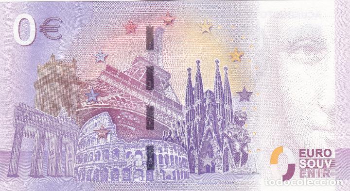 Billetes con errores: BILLETE 0 EUROS SOUVENIR ACUEDUCTO ROMANO DE SEGOVIA. SAGRADA FAMILIA BERLIN ROMA PARIS BARCELONA - Foto 2 - 117481139
