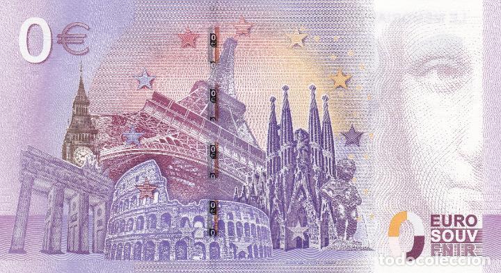 Billetes con errores: BILLETE 0 EURO SOUVENIR LE MEMORIAL DE CAEN. BATALLA NORMANDIA. AVIÓN. SAGRADA FAMILIA EIFFEL ROMA - Foto 2 - 117481235