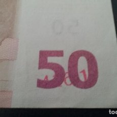 Billetes con errores: ERROR BILLETE 50 EUROS RAREZA UNICO CIFRAS PLIEGO? BAJO EL 50. Lote 118143983