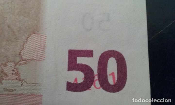 Billetes con errores: error billete 50 euros rareza unico cifras pliego? bajo el 50 - Foto 5 - 118143983