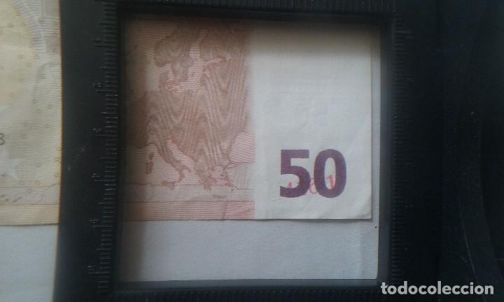 Billetes con errores: error billete 50 euros rareza unico cifras pliego? bajo el 50 - Foto 7 - 118143983
