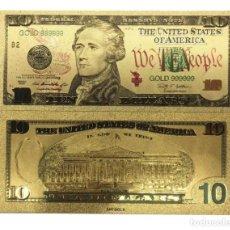 Billetes con errores: BILLETE DE 10,00 DOLARES BONITO ARTÍCULO DE COLECCIÓN TOTALMENTE NUEVO. Lote 119488367