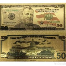 Billetes con errores: BILLETE DE 50,00 DOLARES BONITO ARTÍCULO DE COLECCIÓN TOTALMENTE NUEVO. Lote 119488475