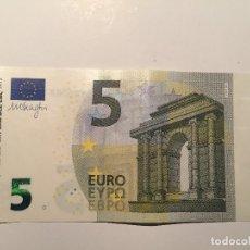 Billetes con errores: UNIÓN EUROPEA - ESPAÑA - 5 EURO 2013 - DRAGHI - FRANJA BLANCA - SIN HOLOGRAMA (2). Lote 121069736