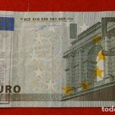 Billetes con errores: BILLETE DE 5 EUROS (AÑO 2002) FIRMA DUISENBERG - CON SELLO POLITICO CATALAN - CIRCULADO (ORIGINAL). Lote 121776751