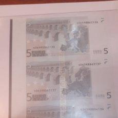 Billetes con errores: 2002 ALEMANIA DUISENBERG ERROR 5 EUROS CUATRO CORTADOS JUNTOS PLANCHA 2002. Lote 122247704