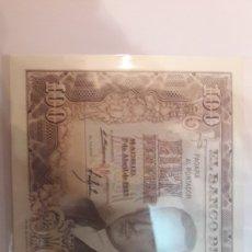 Billetes con errores: ERROR FIRMA FUERA SITIO 100 PTAS 1953. Lote 122253431