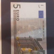 Billetes con errores: 2002 ALEMANIA DUISENBERG RARRO ERROR 5 EUROS SERIE X. Lote 122257383