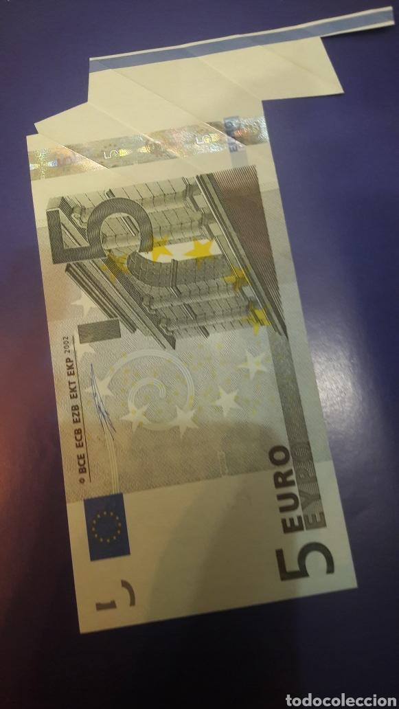 Billetes con errores: 2002 Alemania Duisenberg Error 5 euros 2002 serie x raro - Foto 2 - 122258284