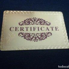 Billetes con errores: CERTIFICADO BILLETE DE ORO (GOLD FOIL) BONITO ARTÍCULO DE COLECCIÓN TOTALMENTE NUEVO. Lote 174100048