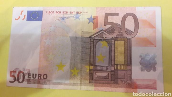 2002 DUISENBERG 50 EUROS BILLETE ERROR (Numismática - Notafilia - Variedades y Errores)