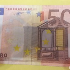 Billetes con errores: 2002 DUISENBERG 50 EUROS BILLETE ERROR. Lote 127223527