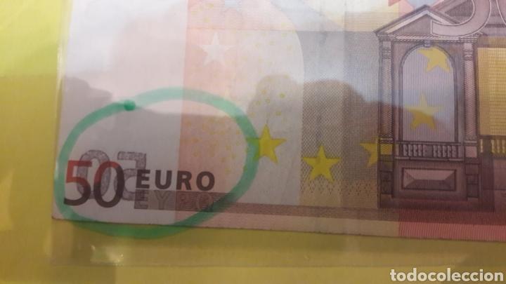 Billetes con errores: 2002 Duisenberg 50 EUROS BILLETE error - Foto 2 - 127223527