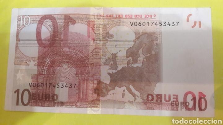 Billetes con errores: ERROR España 2002 Duisenberg Billetes con dos errores banda incompleta sobreimpresion reverso - Foto 2 - 127223800