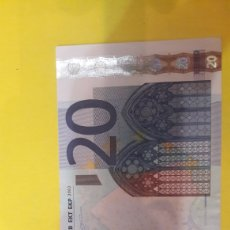 Billetes con errores: ESPAÑA 2002 20 EUROS VARIEDAD IMPORTANTE. Lote 127224019