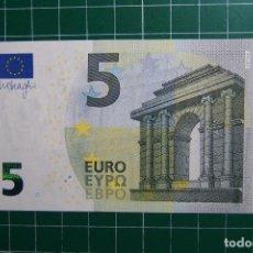 Billetes con errores: BILLETE 5 EUROS MARIO DRAGHI PLANCHA SIN HOLOGRAMA EMISIÓN 2013 PLANCHA. SIN CIRCULAR. ERROR FALLO. Lote 129466155