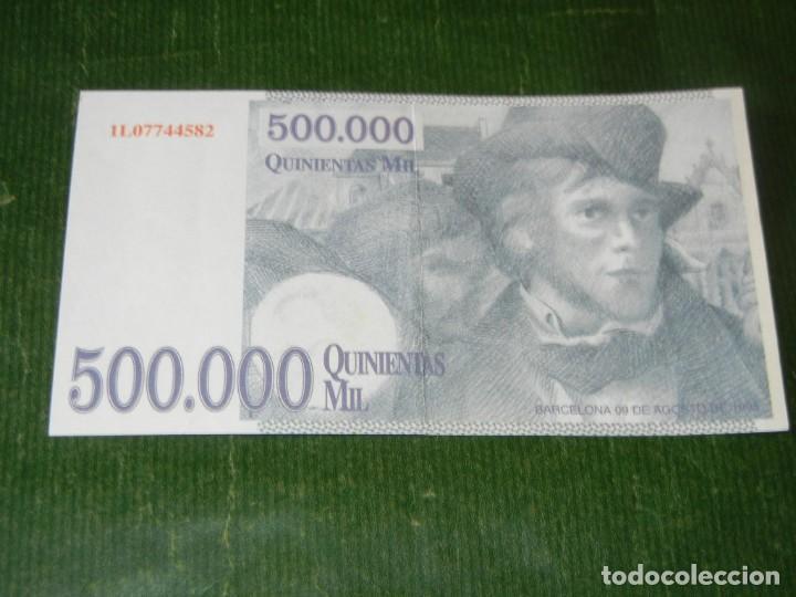 BILLETE 500.000 PESETAS - PROPAGANDA AÑO 1995 (Numismática - Notafilia - Variedades y Errores)