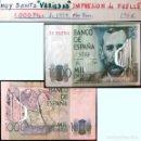 Billetes con errores: RARO BILLETE DE 1.000 PTS. DEL 23 OCTUBRE 1979, CON LA VARIEDAD DE IMPRESION DE FUELLE EN EL PAPEL.. Lote 140340378