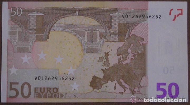 Billetes con errores: BILLETE DE 50 EUROS SIN CIRCULAR CON ERROR DE FABRICACION.LE FALTA EL HOLOGRAMA, ESTADO PLANCHA - Foto 2 - 140489414