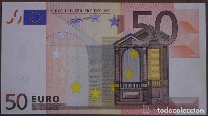 Billetes con errores: BILLETE DE 50 EUROS SIN CIRCULAR CON ERROR DE FABRICACION.LE FALTA EL HOLOGRAMA, ESTADO PLANCHA - Foto 3 - 140489414