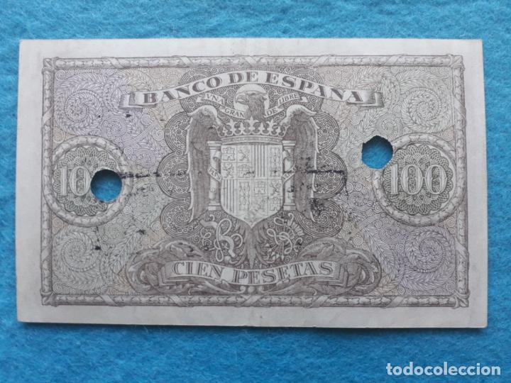 Billetes con errores: Banco de España. 100 Pesetas. 9 de Enero de 1940. Falso de Época. - Foto 2 - 145712870