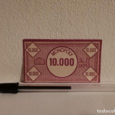 Billetes con errores: BILLETE BANCO DEL MONOPOLY 10.000 PESETAS - BILLETES - AÑOS 80. Lote 146046374